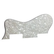 Pleroo Custom Guitar pickgaurd - For Dot Guitar Pickguard Scratch Plate ,  4 Ply White Pearl 3 ply electric guitar pickguard black scratch plate new guard board