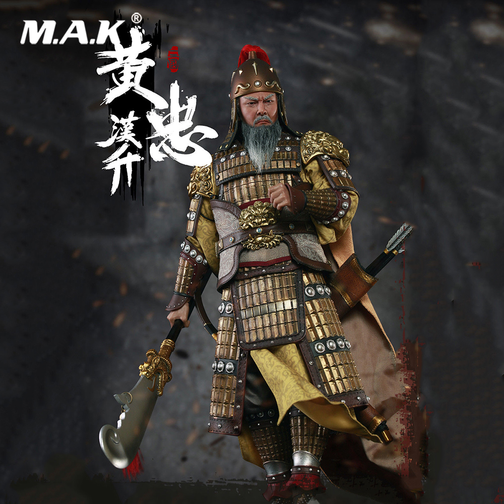 No.319 1/6 Scale Collectible Full Set THREE KINGDOMS SERIES-HUANG ZHONG A.K.A HANSHENG Figure Model for Fans Holiday GiftsNo.319 1/6 Scale Collectible Full Set THREE KINGDOMS SERIES-HUANG ZHONG A.K.A HANSHENG Figure Model for Fans Holiday Gifts