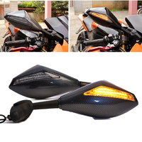 Evomosa Motocicleta LED Piscas Espelhos Para YAMAHA FZ1 FZ6 MT09 Z300 Z800 Z1000 Z750 ER-6N KAWASAKI HONDA SUZUKI GSR600