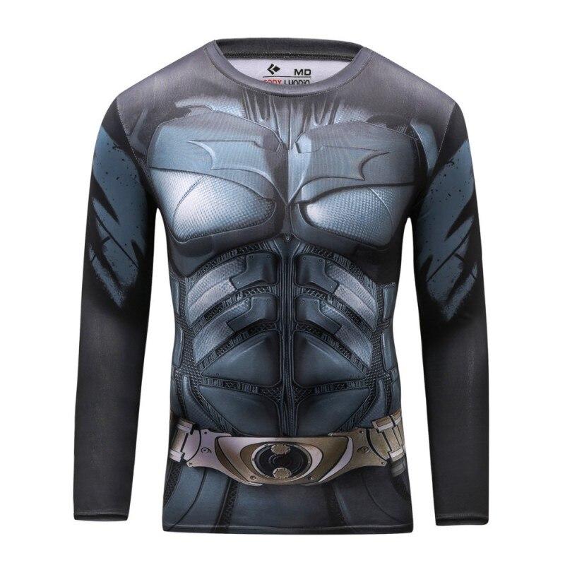 Marvel Superhero <font><b>Spiderman</b></font> Batman Superman t Shirt men Fit Tight <font><b>Compression</b></font> <font><b>T-Shirt</b></font> <font><b>Armour</b></font> <font><b>Costume</b></font> <font><b>Under</b></font> tshirt homme