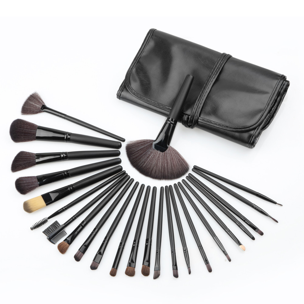 24PCS Professional Make Up Foundation Eyebrow Eyeliner Shadow Blush Set Mini Pro Cosmetic Concealer Brushes 2016 Makeup Tools pro 20pcs set make up styling tools cosmetic eyeliner eyebrow lipsticks shadow wood pincel makeup blushes kit cosmetics pinceaux