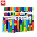 Сакура FY-18 красочный пластиковый карандаш с жестяной коробкой  упаковочный набор  художественные школьные принадлежности для детей  кисть ...