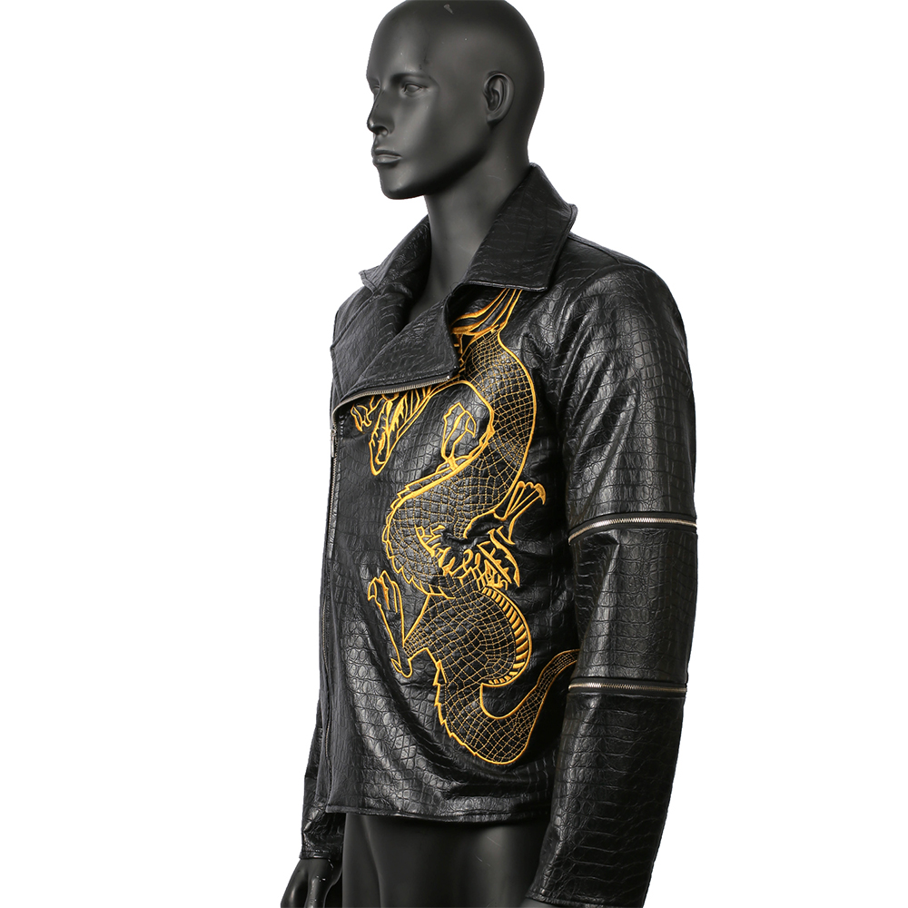 killer croc costume suicide squad cosplay jacket embroidery outfit