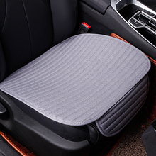 VODOOL 1pc Flax Car Cushion Seat Single Full Surround Breathable Cover Pad For All