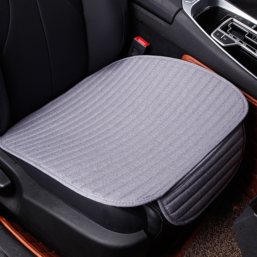 VODOOL 1pc Flax Car Cushion Seat Single Full Surround Breathable Seat Cover Cushion Pad for All Cars Car Styling Accessories