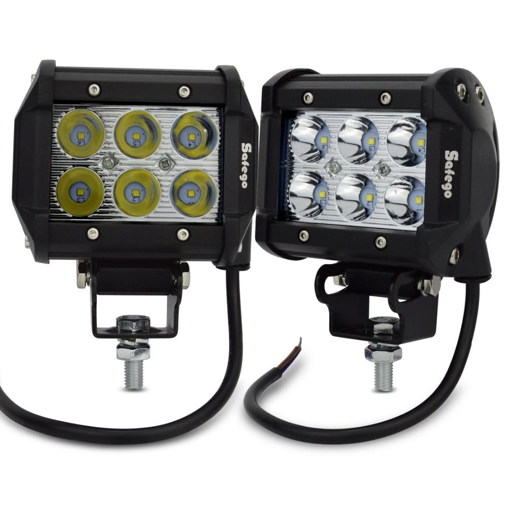 Safego 2pcs LED işiq çubuğu 18w 4Torpaq traktoru üçün yol 4WD - Avtomobil işıqları - Fotoqrafiya 1