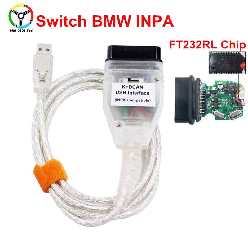 Новое поступление для BMW INPA K + может INPA с FT232RL чип INPA к DCAN для BMW USB Интерфейс полный диагностический сканер для BMW