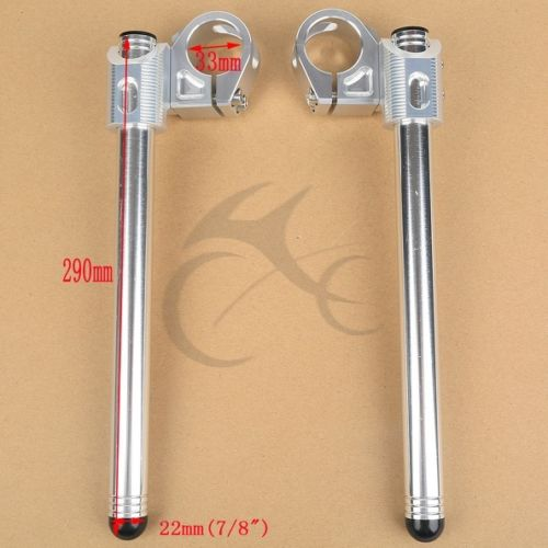 33MM Universal Clip-On Handlebar for <font><b>Honda</b></font> CB <font><b>CL</b></font> CJ CM CX 350 360 <font><b>400</b></font> 450 red image
