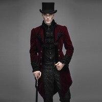 Новый стимпанк Готический мужской длинный модный подиумный стиль пальто мужской нейтральный тонкий китайский стиль Готический вельвет Тр