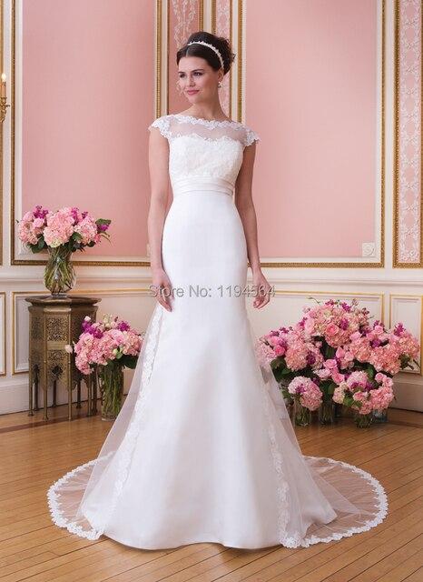 Barato del estilo de país vestidos novia 2014 vestido de novia pura ...