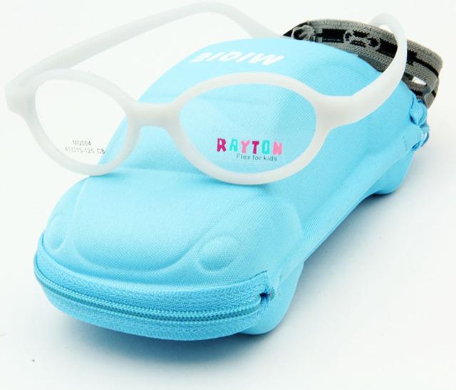Envío gratis a estrenar diseño niños de las lentes wtih caso lindo de fibra de carbono oculos niños