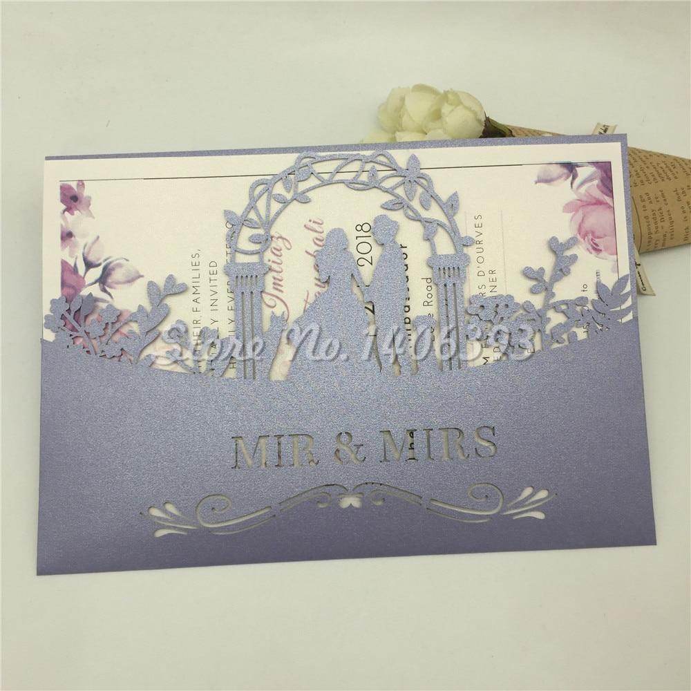 Brides Wedding Invitation Kit: 30pcs Bride And Groom Hollow Wedding Invitation Cards Card