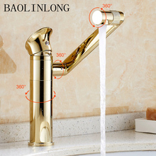Plating Brass Bathroom Basin Faucets Vanity Vessel Sinks Deck Mount Mixer Faucet Tap