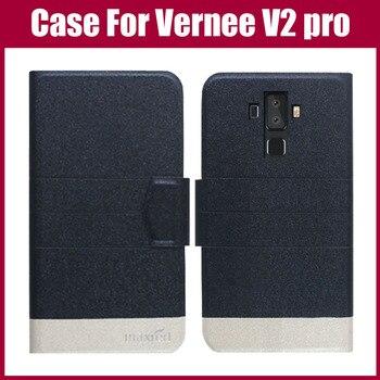 Перейти на Алиэкспресс и купить Горячая распродажа! Чехол Vernee V2 pro Новое поступление 5 видов цветов модный ультратонкий кожаный защитный чехол для Vernee V2 pro