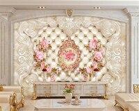 3d Wallpaper Background 3d HD European Soft Case Pattern Flower TV Background Wall Wallpaper 3d Flooring