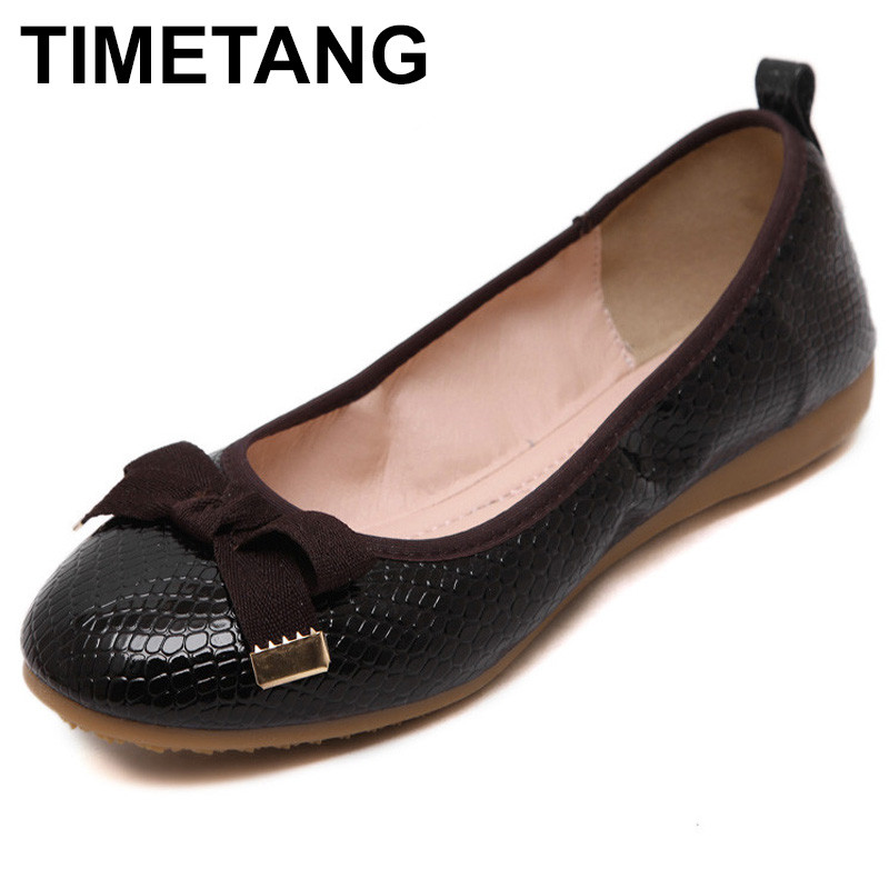 TIMETANG  Fashion Women's Flats Hotsales Round Toe Shoes Women Summer Autumn Ladies Ballet Flat Zapatos Mujer Casual Single C148 dreamshining summer women ballet flats round toe slip on shoes cut outs flats shoes white sandals woman loafers zapatos mujer