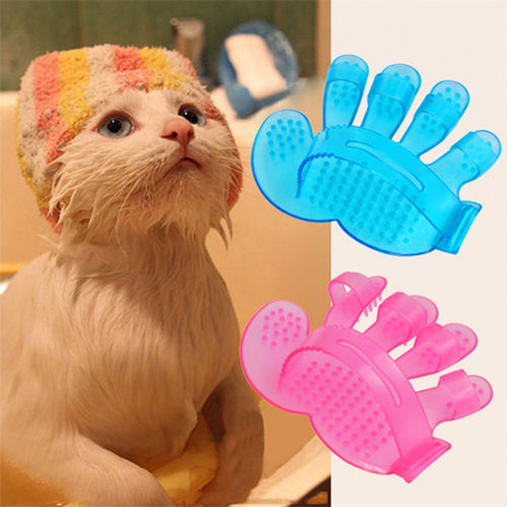 Новая горячая Лучшая цена в AliExpress продвижение собака кошка кролик щетка для ухода за домашними животными меховая Массажная перчатка щетка-синий