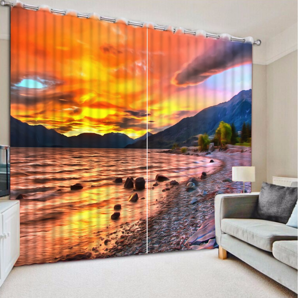 Beautiful beach view Blackout Living Room Bedroom 3D Curtains Printing Photo Kitchen Curtains For Window TreatmentsBeautiful beach view Blackout Living Room Bedroom 3D Curtains Printing Photo Kitchen Curtains For Window Treatments