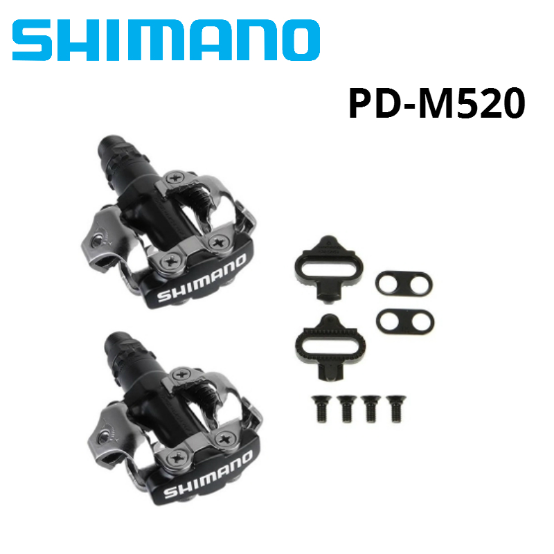 Shimano PD-M520 SPD Pedal MTB Mountainbike Self-Locking Klick Pedale MIT Stollen PD22