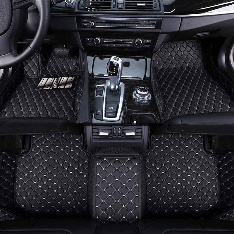 car floor mat carpet rug ground mats leather accessories for Toyota land cruiser prado Reiz MARK X vios Tundra 2018 2017 2016