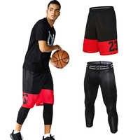 Heißer Verkauf 2 stücke Basketball Shorts Lose Lauf Shorts + 3/4 Sport Engen Outdoor Training Kurzen Jogginghose Strand Shorts