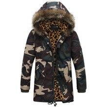 2016 Fashion Men Winter Jackets Brand Jackets Down Parka Men's Fashion Brand Clothing Camouflage  Fur Hooded Jackets Men
