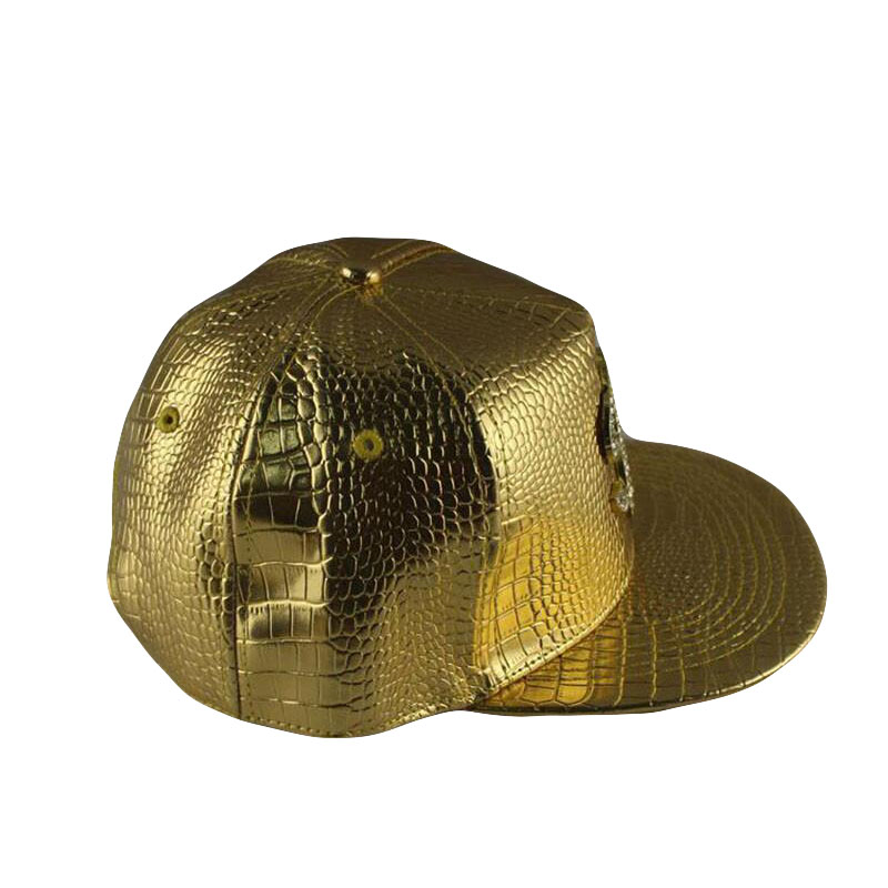HTB1K9KoPxjaK1RjSZKzq6xVwXXai - Faux Leather Baseball Caps Gold Dollar $ Logo With Bling Hiphop Gorras Snapback Hat Adjustable Fashion Cool Casquette For Unisex