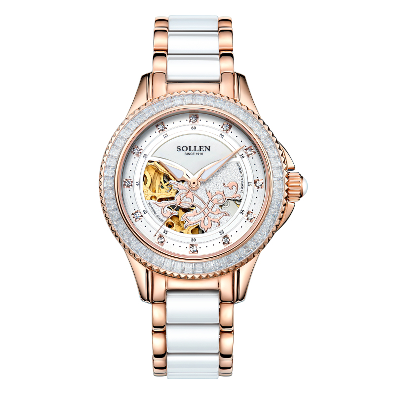 Ceramic Watch Birthday Gift/Present Automatic Relogio Feminino Dourado Ladies Watches Women Gold/Silver/Rose Gold 3 Colors
