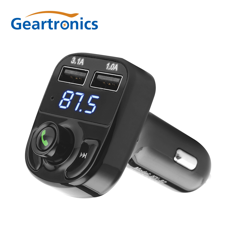 1PCS Car Kit Handsfree Wireless <font><b>Bluetooth</b></font> <font><b>FM</b></font> <font><b>Transmitter</b></font> <font><b>LCD</b></font> <font><b>MP3</b></font> <font><b>Player</b></font> USB ChargerCar Accessories Handsfree Lowest price image