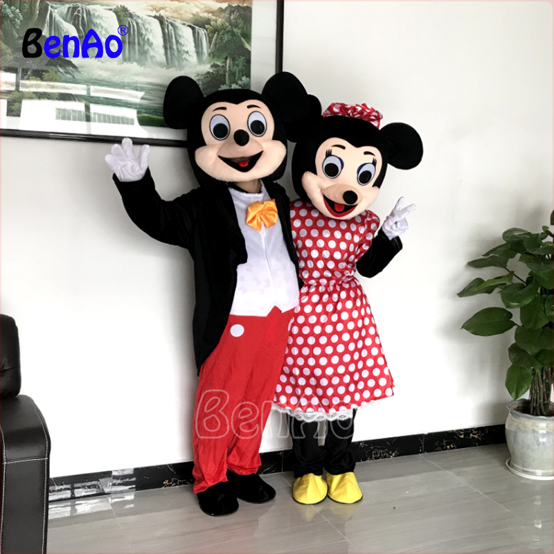 Industrious Mc03 M New Adult Mickey Or Minnie Mouse Mascot Costumes Fancy Dress Suit Eva Material Ems Shipping Wholesale For 1 Piece Inflatable Bouncers