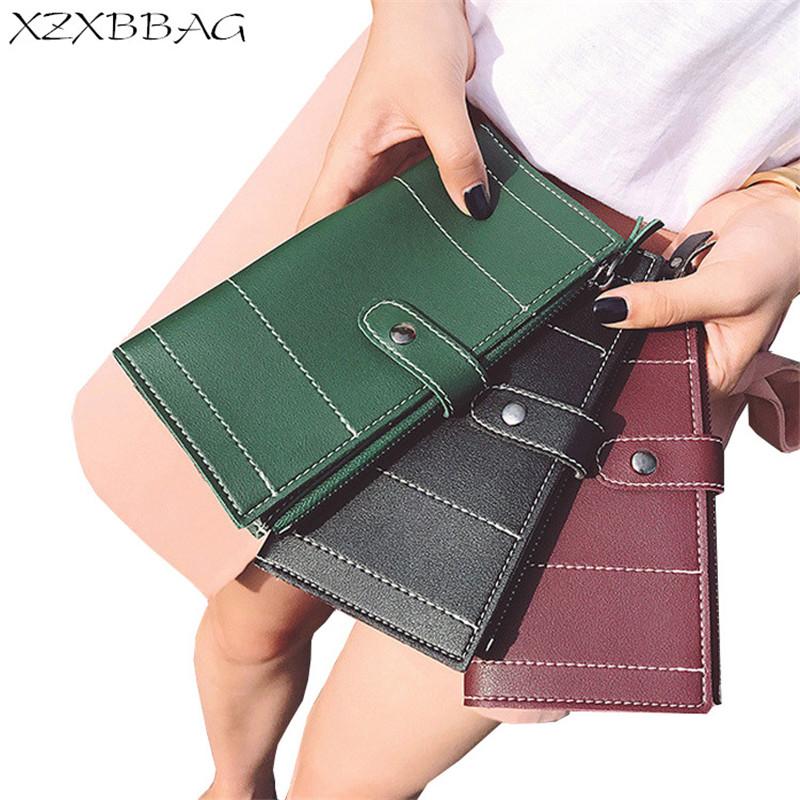 XZXBBAG Fashion Female Zipper Hasp Long Wallet Girls PU Leather Coin Purse Women Money Bag Mobile Phone Case Handbag Card Bag xzxbbag fashion female zipper big capacity wallet multiple card holder coin purse lady money bag woman multifunction handbag