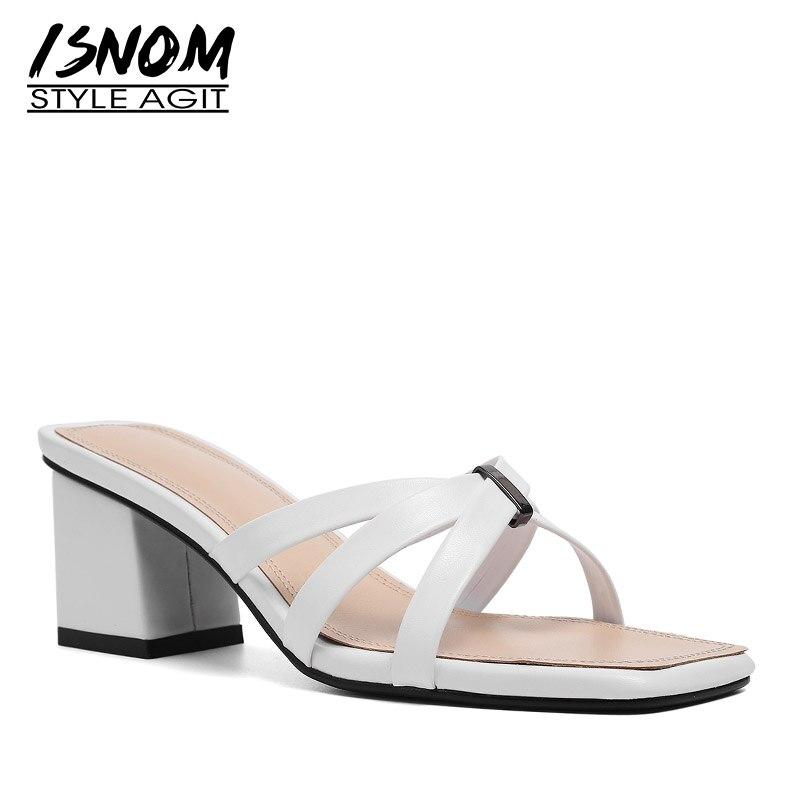 Womens Strappy Stiletto Sandals High Heel Summer Shoes Mules Slides Slipper