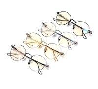 New Fashion Vintage Round Titanium Metal Frame Glasses Men Women Optical Computer Reading Eyewear Luxury Brand