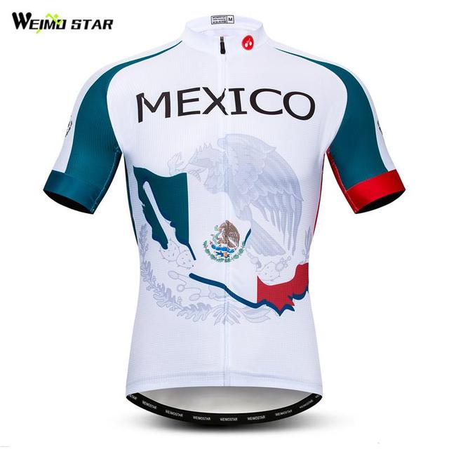 4b8eec3a5 Weimostar 2019 Team Mexico Cycling Jersey Men Pro Summer Short Sleeve MTB  Bike Jersey Quick Dry