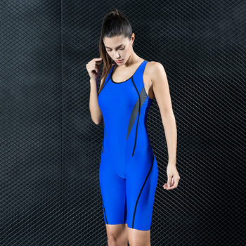 7bb814b80a241 Find Deals Professional Competition Sports Swimsuit One-piece Swimwear 5  Points Pants Sports Suit Swimming Women Bodysuit Racing Swimsuit