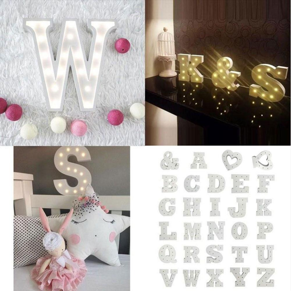 Wall Decorations For Engagement Party : Creative letters led warm white light bedroom wall