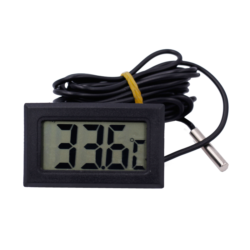 цена New LCD display fish tank thermograph probe tester refrigerator Temperature Sensor Meter with sense cable 2M 20% off