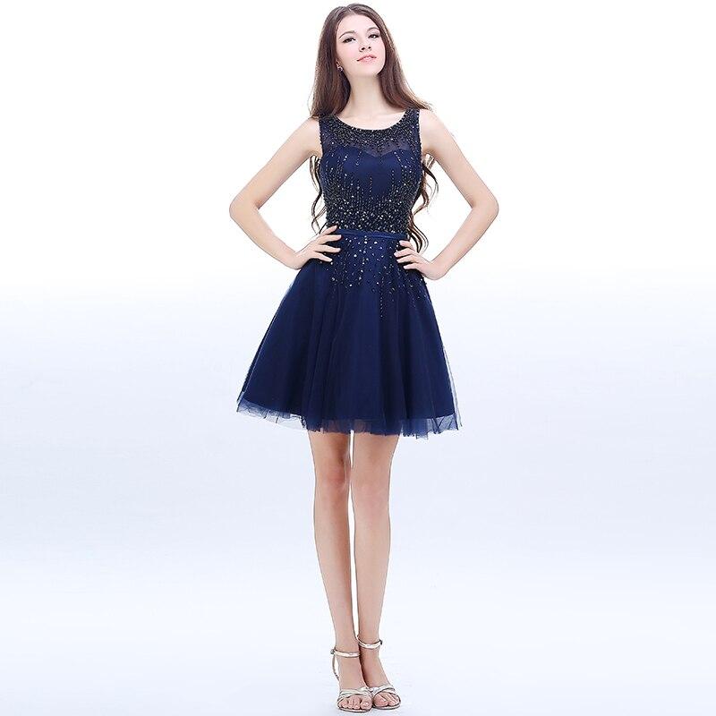 Vestidos de fiesta cortos azul francia