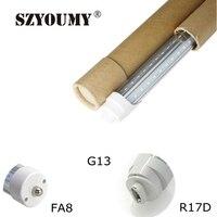 SZYOUMY tubos de LED FA8/R17D/G13 T8 4ft 5ft 6ft Luzes do Tubo do diodo emissor de Alta Super Bright Branco Quente Branco Fresco Levou Fluorescente tubo