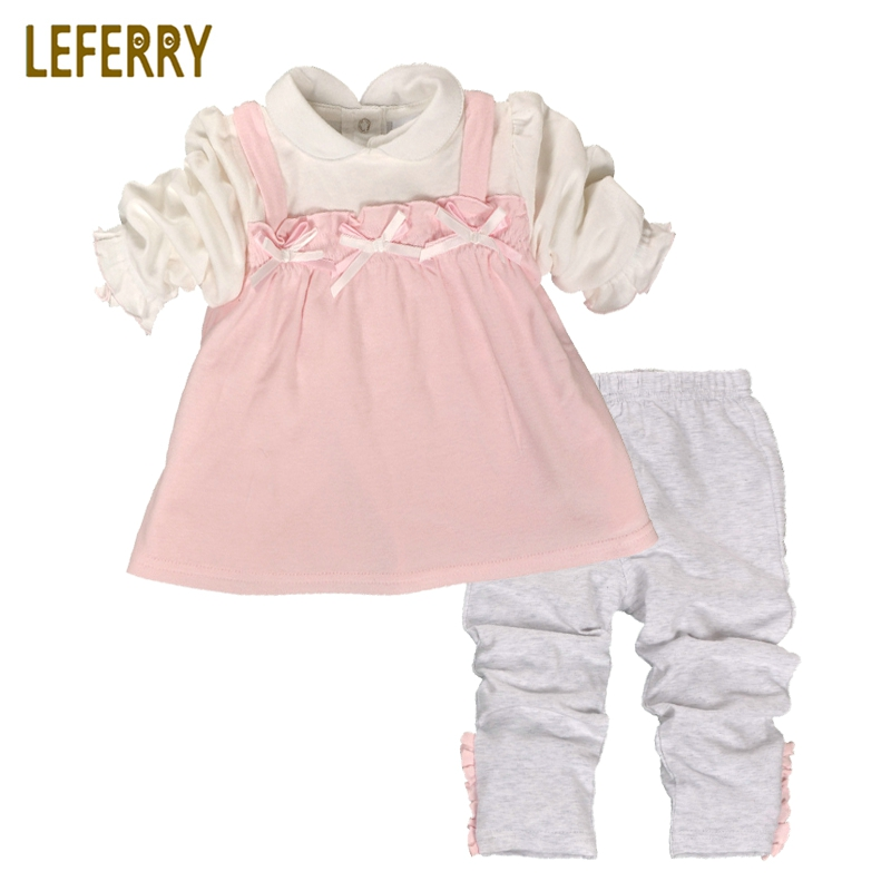 Cute Baby Girls Clothing Sets Newborn Infant Clothing Baby Girl Clothes Set Baby Kleding Cotton Shirt + Legging 2018 New Fashion promotion 6pcs baby bedding set cot crib bedding set baby bed baby cot sets include 4bumpers sheet pillow