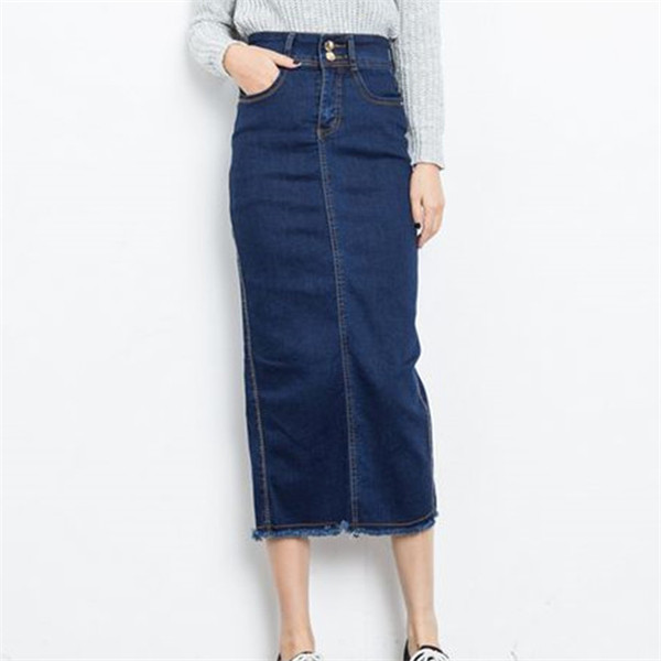 Long high waisted denim skirts – Modern skirts blog for you