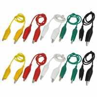 Promocja! 10 sztuk 5-kolory podwójne zakończył się zaciski krokodylkowe przewód pomiarowy kabel mostkujący 50cm
