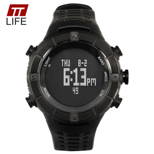 2016 New TTLIFE Brand Fashion Outdoor Sports Wristwatches Men LED Digital Military Watch 50M Dive Swim Dress Sports Watches