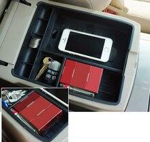 Черный Интимные аксессуары центральной хранения подлокотник контейнер карман-Органайзер держатель Box для Toyota Highlander 2009 2011 2012 2013 2014