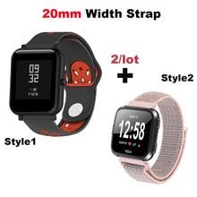 Купить с кэшбэком Nylon Bracelet Strap 20mm Smart Watch Pulsera Correa Band for Huami Amazfit Bip Lite for Huawei Watch 2 for Samsung Gear S2 S4