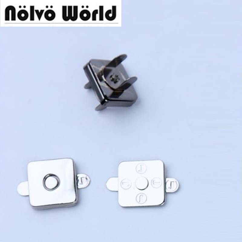 18*18*2mm squared shape magnetic snap button clasp fastener for exotic skin handbag purse wallet making 5pcs lot high quality 2 pin snap in on off position snap boat button switch 12v 110v 250v t1405 p0 5