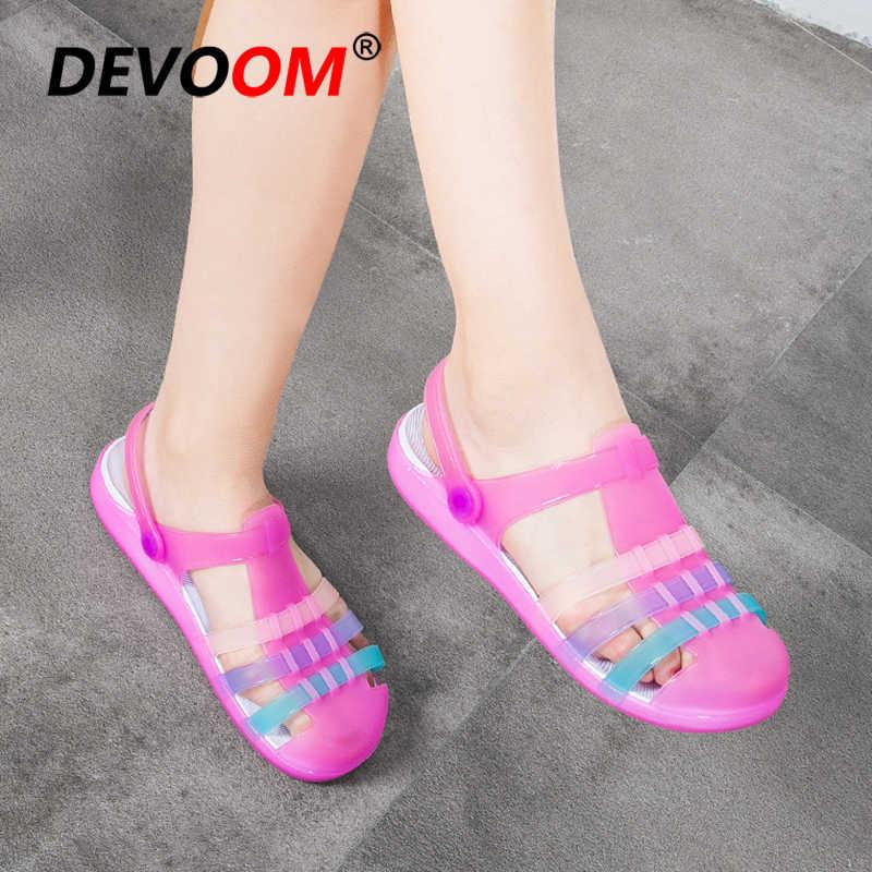 Jelly Sapatos Chaussure Femme Mulheres Sapato Transparente Teenslippers Chinelos Mulheres Chinelos E Sandálias de Verão Chinelos de Praia Senhoras