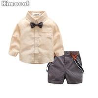 Gentleman Baby Boy Clothes Fashion Bow Tie Shirt Pants Boy Set Newborn Baby Boy Clothing Sets
