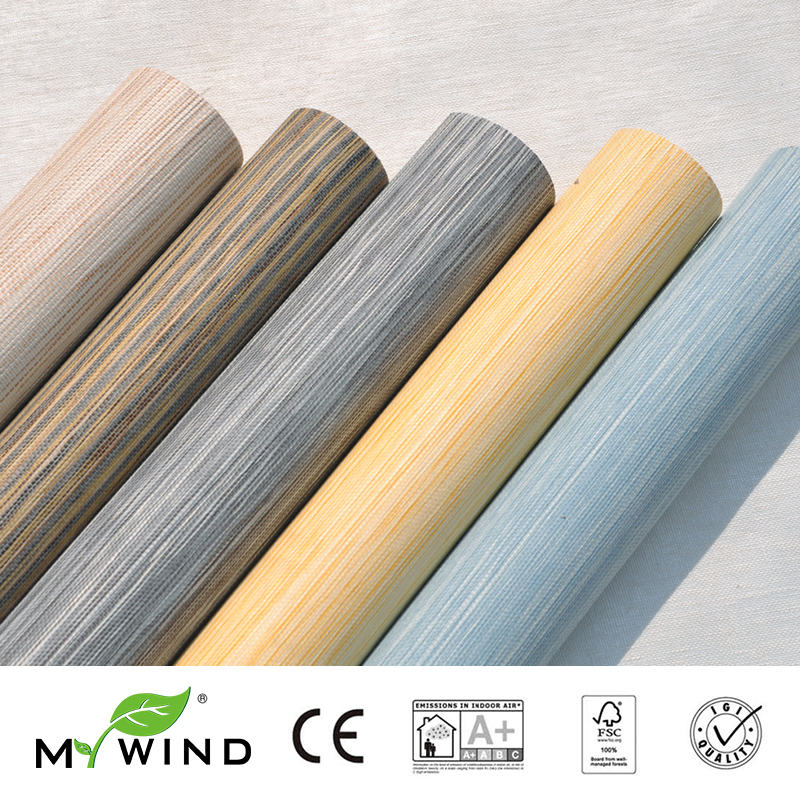 2019 MY WIND Bright Grasscloth Wallpapers 3D Paper Weave Design Wallpaper In Roll Luxury Natural Material papier wandbekleding in Wallpapers from Home Improvement
