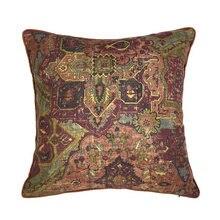 Clásico Vintage impresión Digital de seda tejida como funda de almohadón para el hogar sofá Interior suave funda de almohada decorativa 45x45 cm